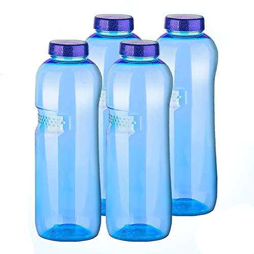 4 x 1,0 Tritan Trinkflasche Wasserflasche Flasche Sport Fahrrad BPA - frei
