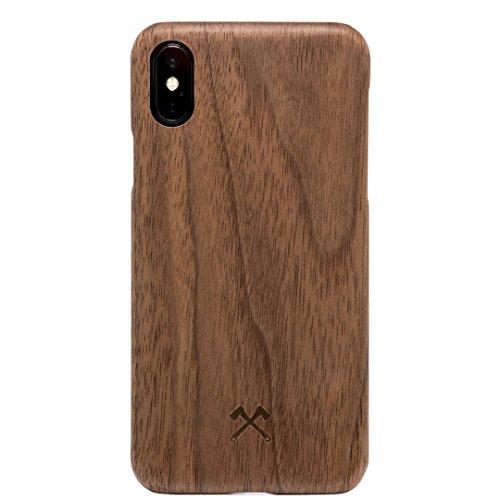 Woodcessories - Hülle kompatibel mit iPhone X/Xs aus Echtholz - EcoSlim Case (Walnuss)