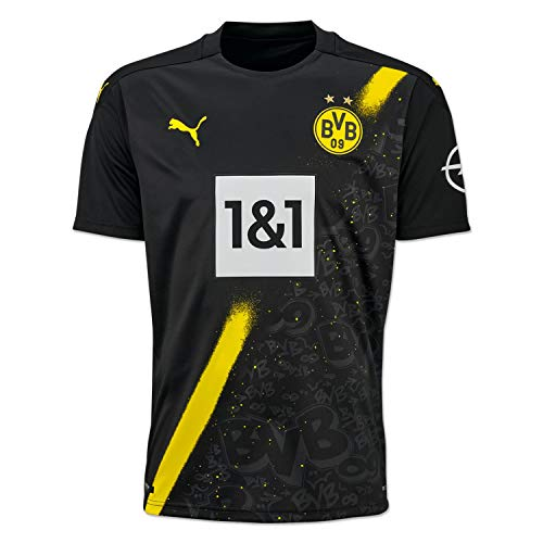 PUMA Herren BVB Away Shirt Replica SS w.Sponsor New T Black, L