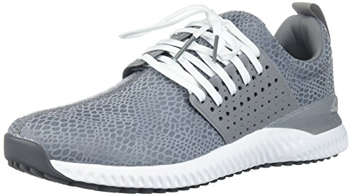 adidas Men's Adicross Bounce Golf Shoe, Grey/White, 10 M US