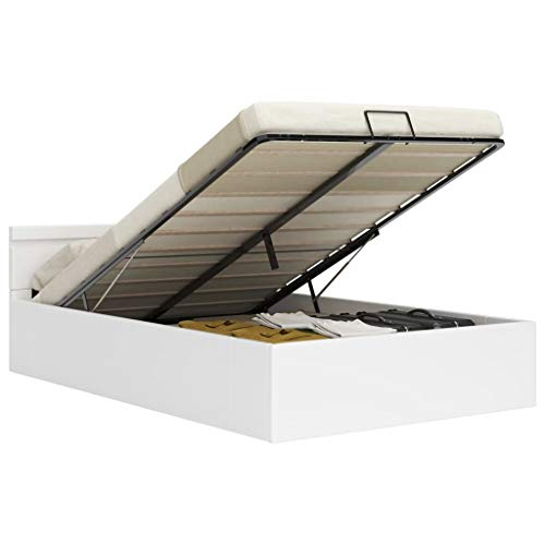UnfadeMemory Giroletto Contenitore Idraulico LED Bianco Similpelle 180x200cm