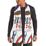 JONINOT Bufanda del Día de la Independencia del 4 de julio de la bandera de los EE. UU. Para mujeres Hombres Ligero Unisex Primavera Suave Invierno Bufandas Chal Wraps