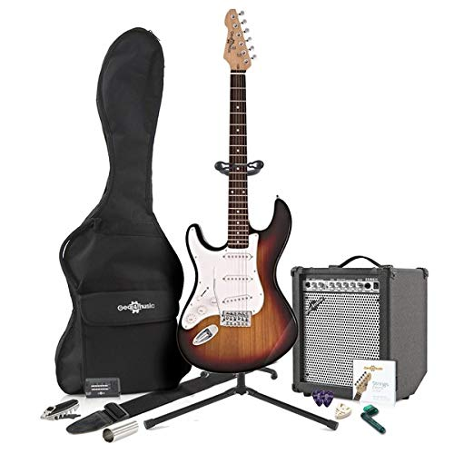 LA Left Handed Electric Guitar + 35W Complete Amp Pack Sunburst ...