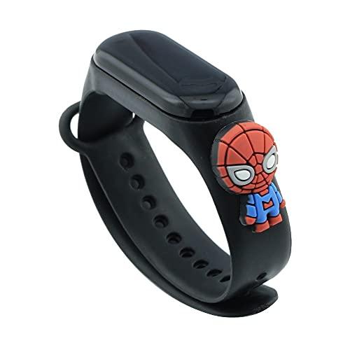 Reloj digital pulsera de silicona niño niña deportivo dibujos animados – Correa compatible con Xiaomi Mi Band Spiderman.
