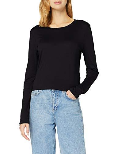 True Religion Damen Longsleeve Tshirt T-Shirt, SCHWARZ, XS