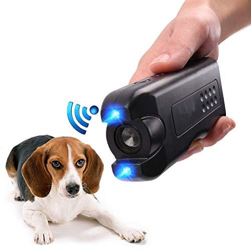 OYEFLY Ultraschall Hunde Repeller und Trainer Gerät Anti Bellen Stop Rinde Handheld Hunde Trainingsgerät GerätLED-Außenrinde-Controller Anti-Statik Handschlaufe für große und kleine Hunde (Schwarz)