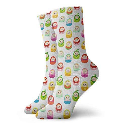N/A High Performance Tennissocken,Sport/Sneaker Socken,Anzug-Socken,Business Socken,Russische Puppe Feuchtigkeitskontrolle Laufsocken Langlebige Atmungsaktive Trainingssocken