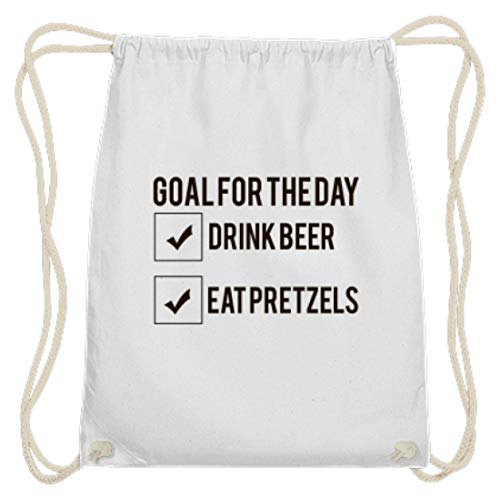 Goal For The Day – Drink Beer – Eat Pretzels Oktoberfest 2018 Monaco Bayern – Gazebo in cotone, Bianco (bianco), 37cm-46cm