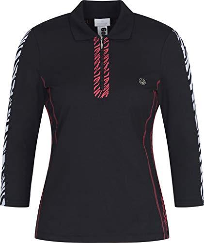 Sportalm Damen Poloshirt Größe M Schwarz (schwarz)