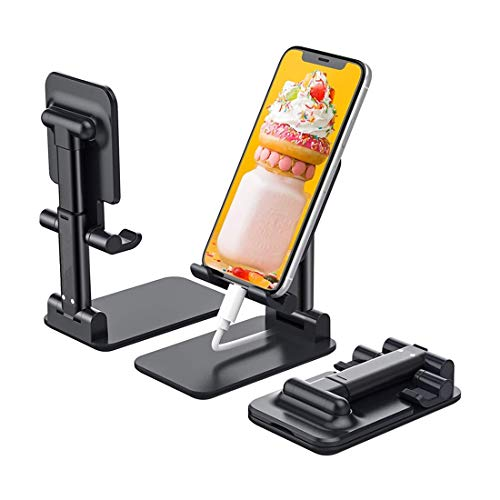 Soporte plegable para teléfono celular, soporte ajustable para tableta Soporte para teléfono móvil para escritorio, soporte para tableta de escritorio compatible con teléfonos inteligentes/ Kindle