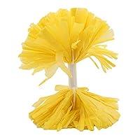 Toporchid パーティースポーツチアリーディングポンポンチアリーディングフラワーボール(黄色)