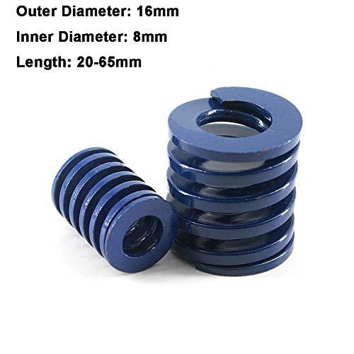 NO LOGO L-Yune, 2ST blaues Licht Last Spiral Stamping Compression Das Federaussendurchmesser 16 mm Innendurchmesser 8mm Länge 20-65mm (Größe : 16 x 8 x 20mm)