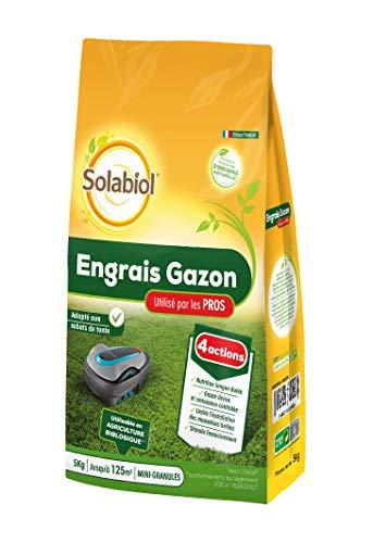 Solabiol SOGAZYPRO5 Engrais Professionnel 1 X 5 Kg | Gazon Dense et Croissance controlée, Puissant, Taille Unique