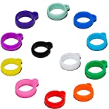 12pcs Anti-Lost Silicone Rubber Ring Holder Multipurpose Carrying Kit Flexible Comfort Band Holder Case for Pens Device Office Daily Sport Assorted Color, Diameter 13mm/0.51inch
