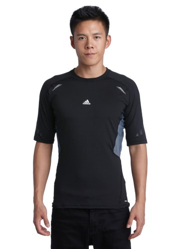 adidas Herren kurzärmliges Shirt Techfit Preparation, black, S, W58876