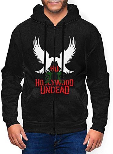 BYYKK Herren Kapuzenpullover, Hollywood Undead Men's Zip Hooded Sweatshirt