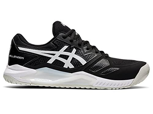 ASICS Men's Gel-Challenger 13 Tennis Shoes, 9.5, Black/White
