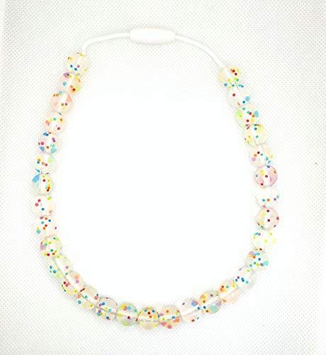 Silicone Toddler Jewelry - 17' Kids Necklace for Girls Boys - Food Grade BPA Free (DotDot)