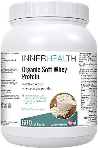 Premium UK Whey Protein Powder 600g (Vanilla) - Highest Grade Hormone-Free Milk, Sourced from EU & British Cows, No GMO's, Delicious High Protein, No Sugar. - Lean Muscle Mass Growth & Maintenance.