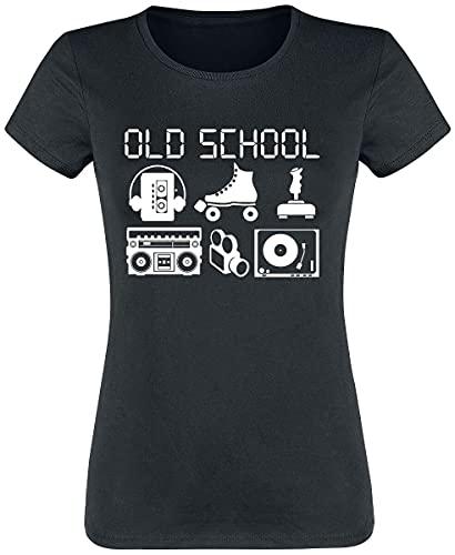 Old School Frauen T-Shirt schwarz M 100% Baumwolle Funartikel, Sprüche