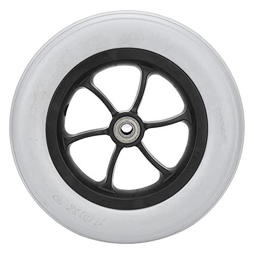 Neumático delantero para silla de ruedas manual, neumático práctico para silla de ruedas resistente a explosiones con un diámetro de rueda de 10 pulgadas para suministros industriales