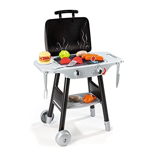 Smoby Smoby Roleplay BBQ Plancha Grill with 16-piece accessory set, Black Playset, 19.69 x 14.57 x 28.43 inches