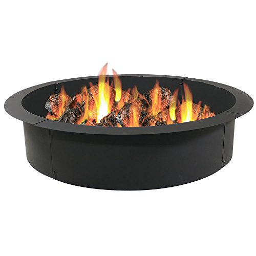 Sunnydaze Wood Burning Outdoor Fire Pit Ring/Liner - Heavy Duty - DIY Above...