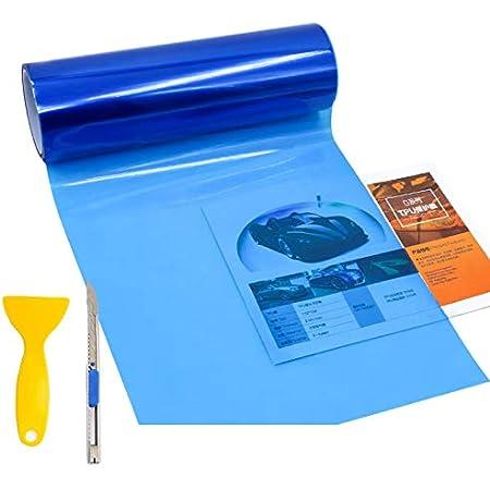 Glossy Xenon Light Blue Headlight Taillight Fog Light Side Marker Vinyl Tint Film Self Adhesive 1FT x 30FT EZAUTOWRAP Free Tool Kit 12x360