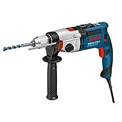 Bosch Professionell slagborr GSB 21-2 RCT (borrning i betong: 13 - 22 mm, 1 300 watt, snabbborrchuck: 13 mm, djupstopp: 210 mm, extra handtag, i fodral)