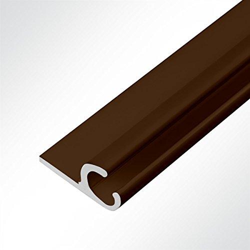 LYSEL® Kederschiene 15x30mm braun 3m 45° Braun Ø10mm für Keder 6-9mm