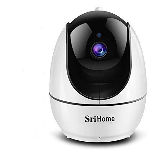SriHome SH026 Pan/Tilt Wireless WiFi 3MP ( 3 Megapixel ) Full HD 1296P X 1080P IP Camera CCTV with 2 Way Audio , Motion Detection Wi-Fi Security Camera CCTV Home & Office Use