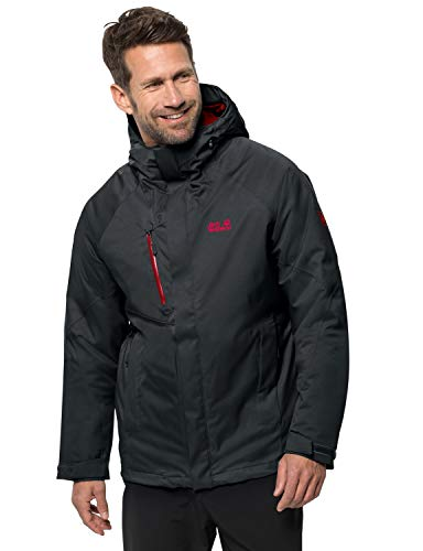 Jack Wolfskin Herren Troposphere Jacket M Wetterschutzjacke, phantom, XL