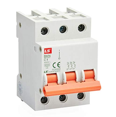Interruptor BKN-C 6kA, 3P, B, 6A, 10A, 13A, 16A, 20A, 25A, 32A, 40A, 50A, 63A (50A).