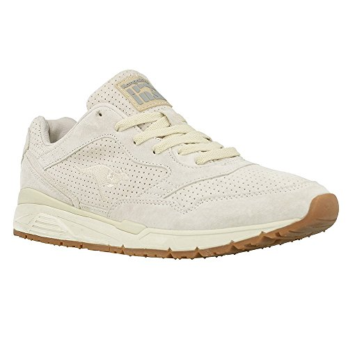 KangaROOS Ultimate Leather, Low-Top Unisex Adulto, Marfil Off White 010, 39 EU