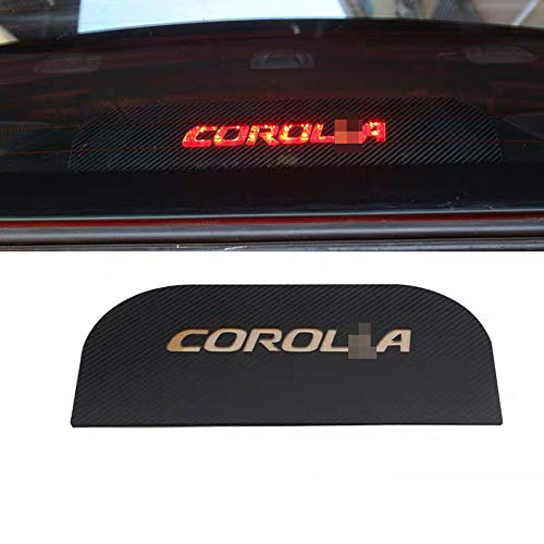 MAXDOOL Car High Brake Light Sticker Acrylic Projection Board Decal Top Tail Light Stickers Car High Mounted Decorative Emblems for Toyota Corolla