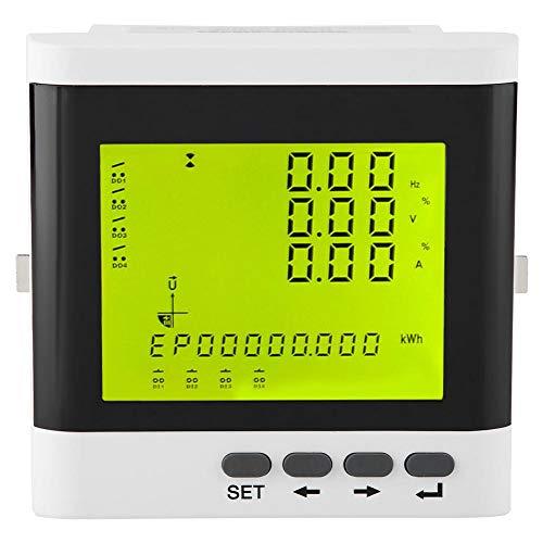 Multifunción Trifásico Programable Eléctrico Watt Medidor de potencia activa Voltio Amp Monitor de energía Amperímetro LED digital de alta precisión Voltímetro Panel de pantalla LCD