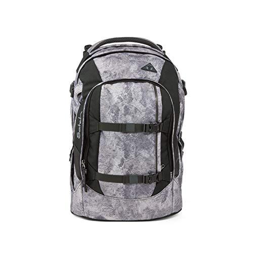 Satch pack Schulrucksack - ergonomisch, 30 Liter, Organisationstalent - Rock Block - Grau