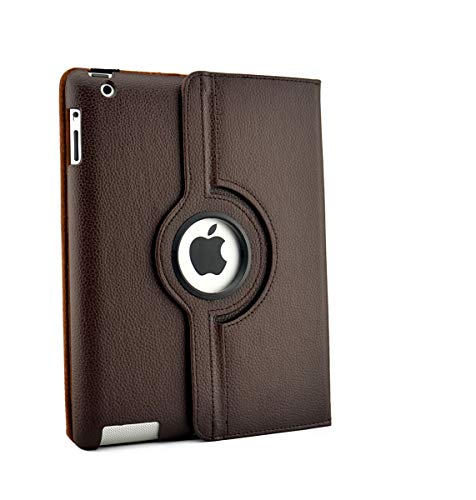 inShang Case for iPad 2 iPad 3 iPad 4 Premium PU Leather Multi-Function PU Leather Stand Case, Cover For ipad2 iPad3 iPad3, With Auto Sleep Wake Function Dark Brown