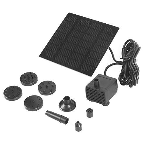 itchoate Kit de bomba de fonte de bomba de água de energia de painel solar para piscina ao ar livre Jardim lagoa bomba submersível quadrada de rega de início rápido - preto