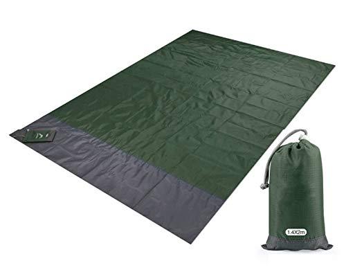 Toalla de playa impermeable con bolsillo y sin arena, ideal para la playa, camping, al aire libre, playa, picnic, toalla (color: blanco, tamaño: 200 x 140 cm)