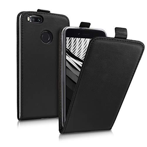 kwmobile Hülle kompatibel mit Xiaomi Mi 5X / Mi A1 - Handy Case Handyhülle - Flip Schutzhülle in Schwarz