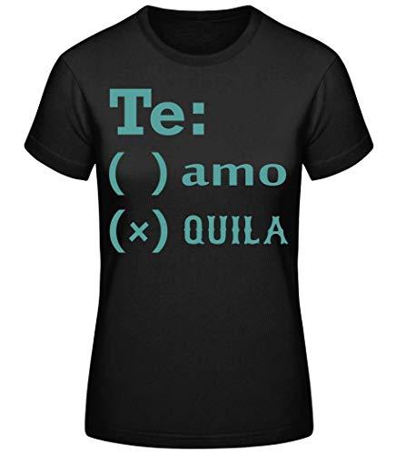 Shirtinator Party Festival T-shirt | Te Amo Tequila grappig cadeau-idee voor vrouwen | grappig dames T-shirt origineel