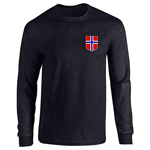 Norway Soccer Retro National Team Jersey Costume Black XL Full Long Sleeve Tee T-Shirt