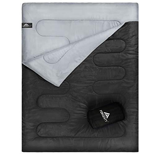 Forceatt Schlafsäcken, Wasserdichter 2 Personen - Großer Deckenschlafsack, Geeignet für Warmes und Kaltes Wetter, Geeignet für Erwachsene Oder Jugendliche, Drinnen, Draußen, Rucksack, Camping, Wandern