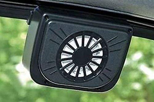 SHREEJIIH Plastic Auto Cool- Solar Powered Ventilation Fan Keeps Your Parked Car Cool (Black)