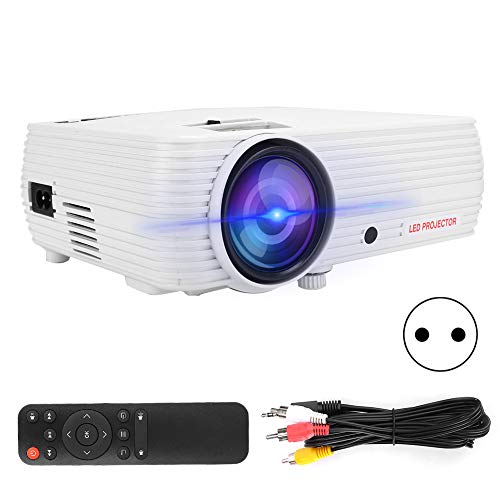 Home Mini LED Proyector White Smarts HD Portable Casa De Casa Sin Pantalla TV 110V-240VEU Enchufe