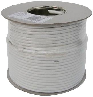 Webro RG6 50m Digital Coaxial Cable for Aerial and Satellite TV - Wh