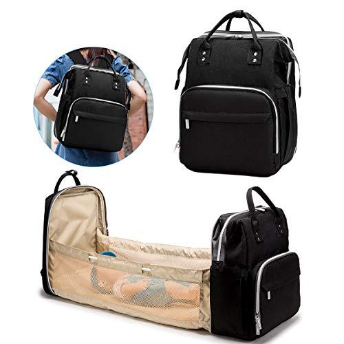 DaMohony 3 in 1 pieghevole per neonati, grande borsa per pannolini, borsa per fasciatoio portatile per neonati