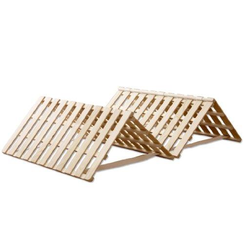 タンスのゲン すのこマット シングル 四つ折り 組み立て不要 完成品 天然桐 折りたたみ ベッド AM 000067 【56329】
