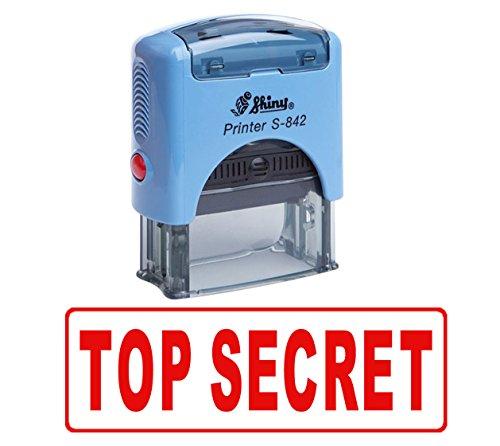 TOP SECRET Selbstfärber Stempel Individuelle Shiny Büro Stationär Stempel
